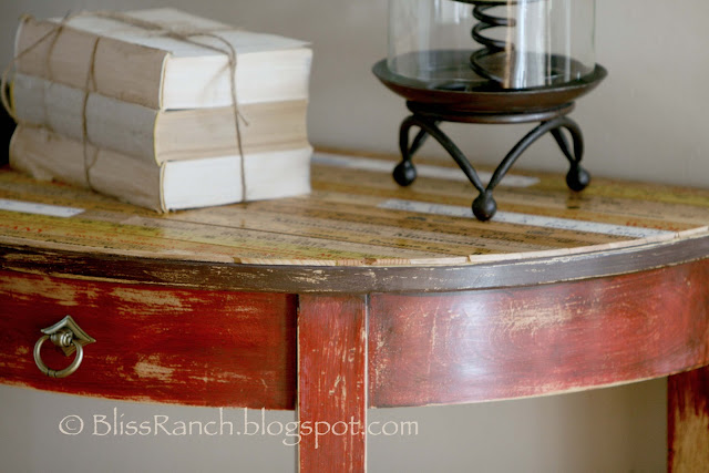 Yardstick Topped Entry Table, CeCe Caldwell Paint, Bliss-Ranch.com