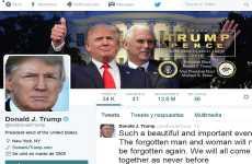 Donald Trump modificó su perfil de Twitter y publicó su primer mensaje luego de ganar las elecciones