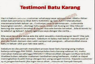 Testimoni Vivix Ikhtiar Rawat Batu Karang