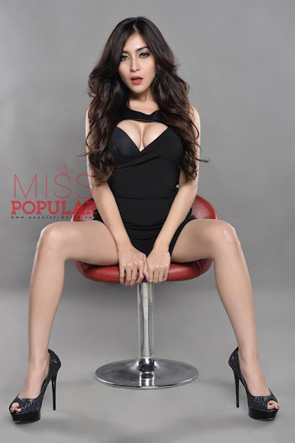 Gege Fransiska Foto Model Seksi  Miss Popular