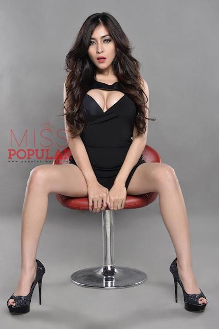 Gege Fransiska Foto Model Seksi  Miss Popular