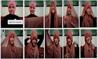 Tutorial Jilbab Segi Empat
