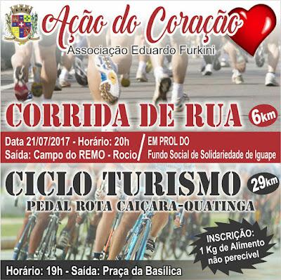 Inscrições abertas para Corrida de Rua e Ciclo Turismo solidários em Iguape