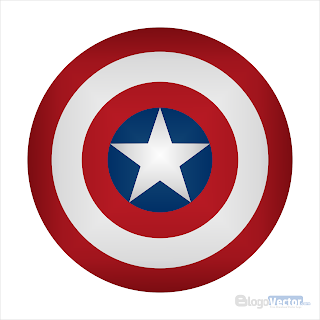 Captain America Shield Logo vector (.cdr)