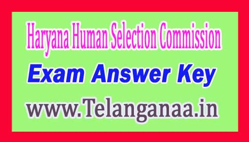 HSSC Clerk 4th Dec Exam Answer Key-2016