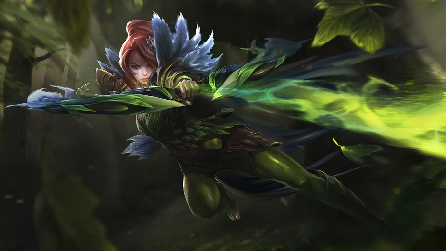 Windranger, Dota 2, Song of the Blue Bird, Set, 4K, #5.2092
