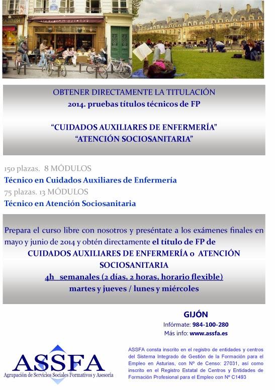 Estudios Sociosanitarios En Asturias Assfa Cursos Pruebas