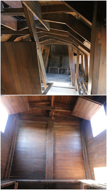 Inside Troy wooden house at Canakkale, Turkey