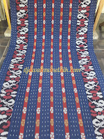 Tenun Blanket Jepara Motif Bunga Warna Biru TB - 009