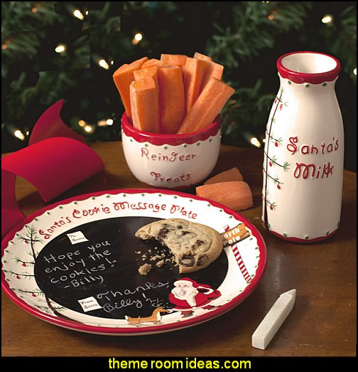 Child to Cherish Santa's Message Plate Set  christmas kitchen decorations - Christmas table ware - Christmas mugs  - Christmas table decorations - Christmas glass ware - Holiday decor - Christmas dining - christmas entertaining - Christmas Tablecloth - decorating for Christmas - Cookie Cutters