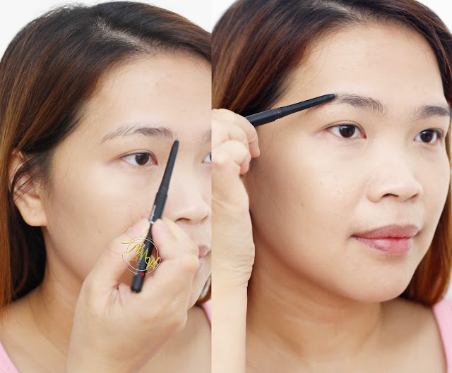 a photo of how to fix untamed brows using Eyebrow Pencil