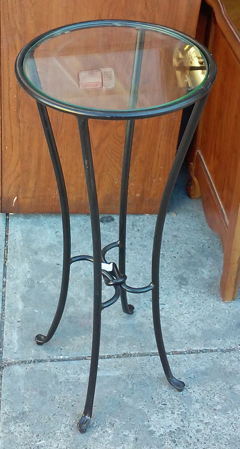 Uhuru Furniture Amp Collectibles Sold 9022 Iron And Glass