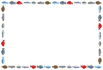 魚のフレーム素材(横)