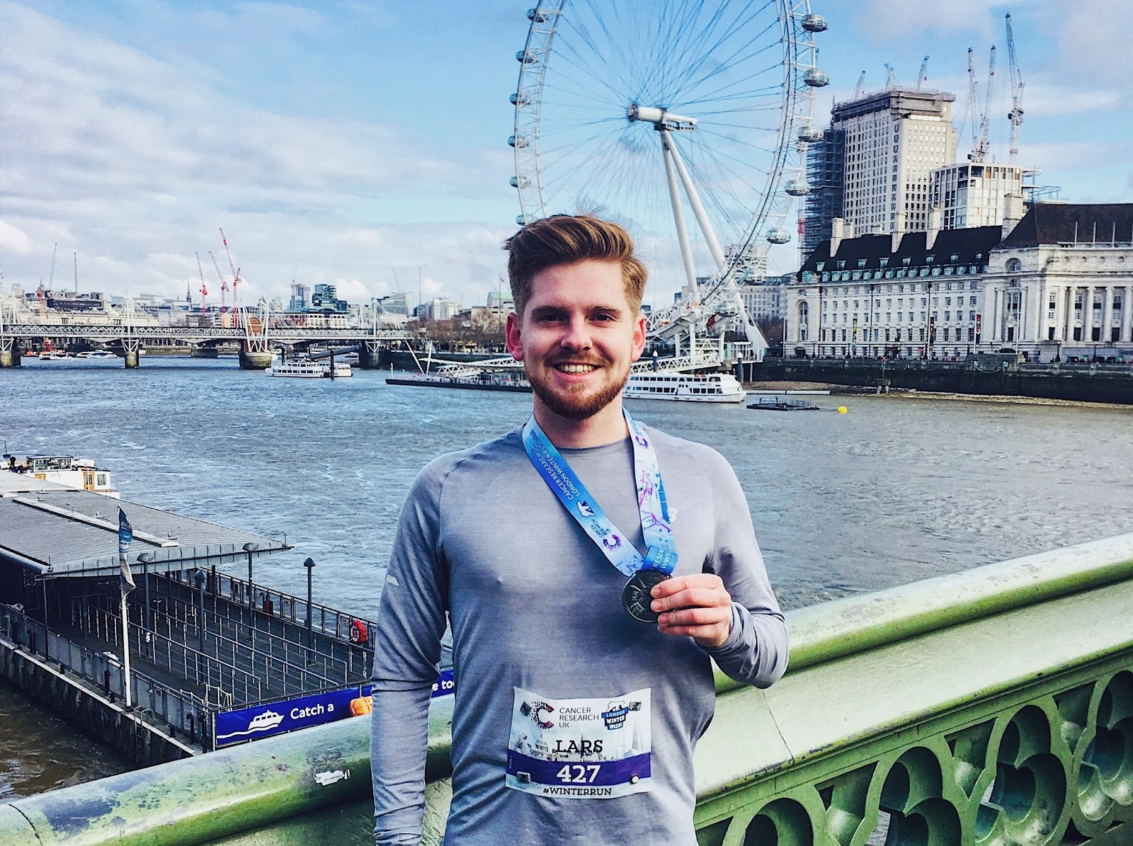 Medal London Winterrun Westminster Bridge London Blog Running Eye