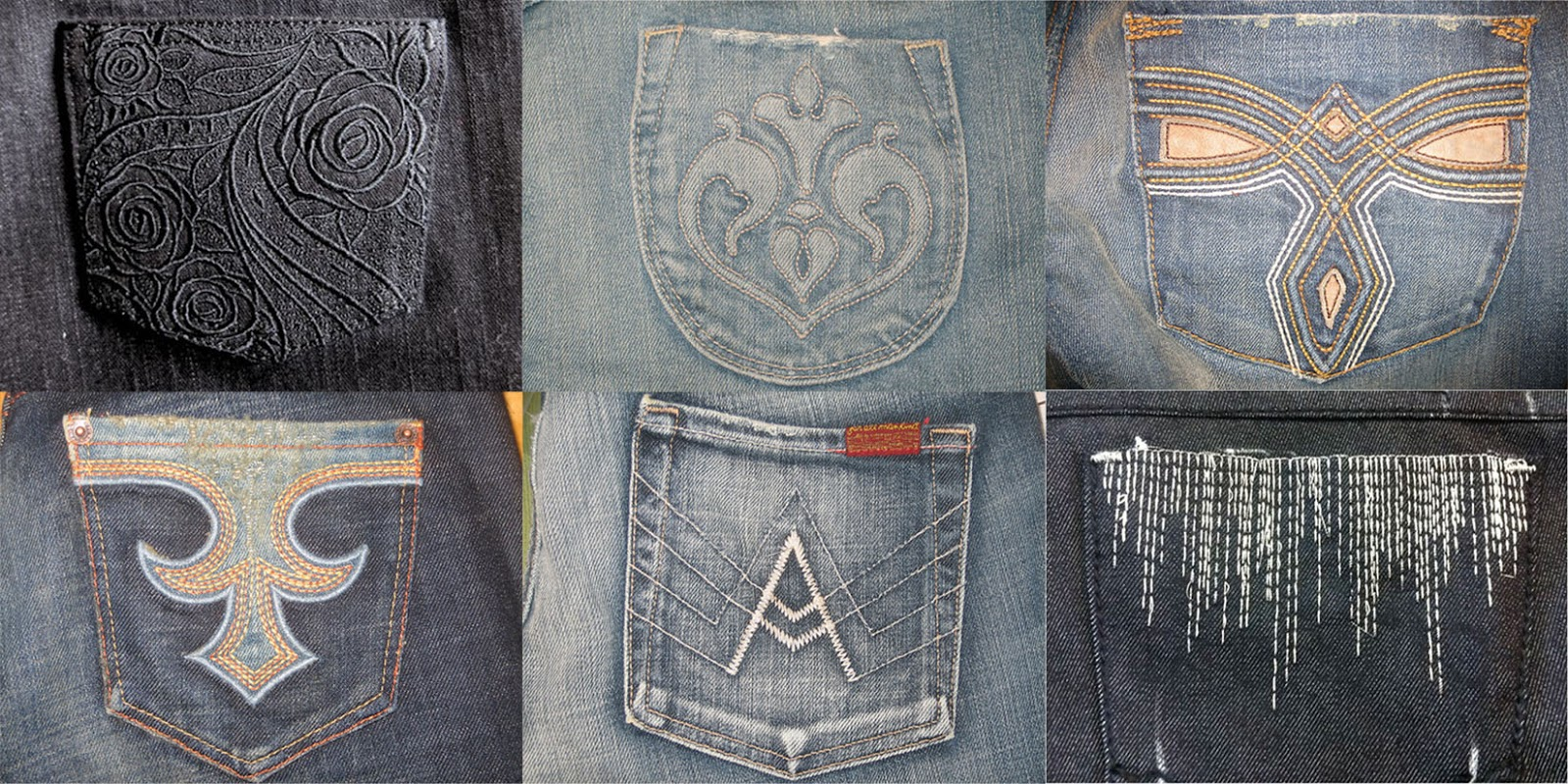 Unlikely ginger jeans back pocket design inspiration
