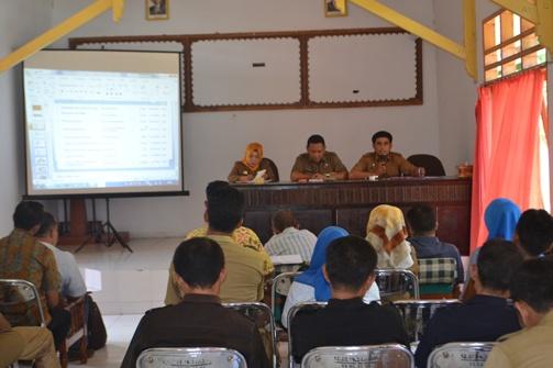 Rapat Evaluasi APBD Desa, Di Kecamatan Bontomanai