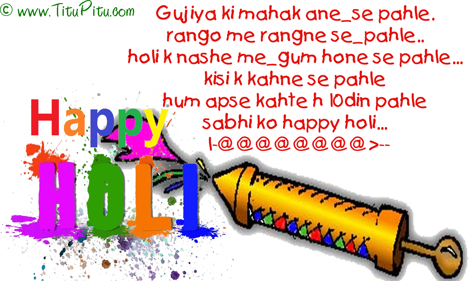 holi in hindi Why holi is celebrated - it is celebrated on the full moon day falling in the month of phalguna (feb-mar) various colors and water are thrown on each other, amidst loud music, drums etc to.