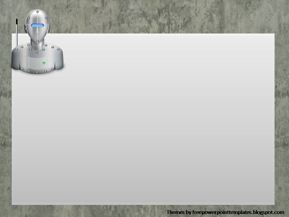Free PowerPoint Templates: Robotic Powerpoint Background
