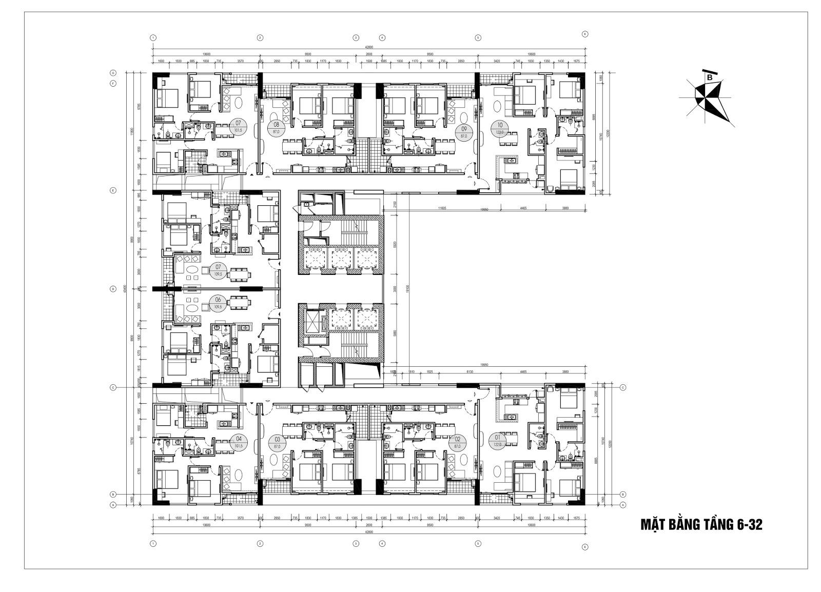 Thiết kế chi tiết căn hộ chung cư Phú Mỹ Complex - N01T4 Ngoại Giao Đoàn