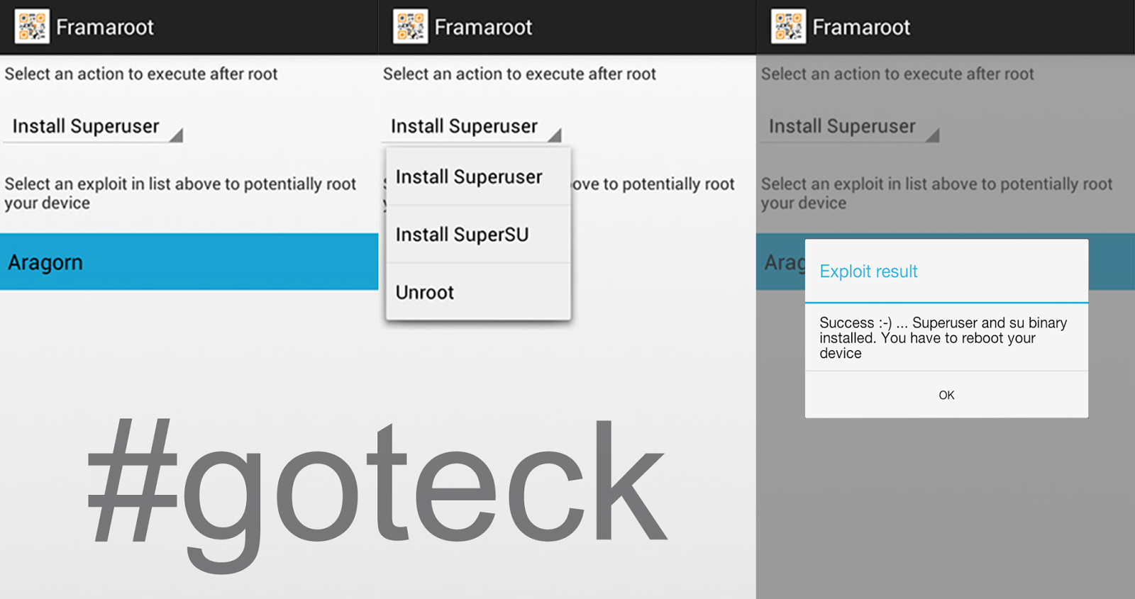 Root] How to root android by using framaroot ~ goteck