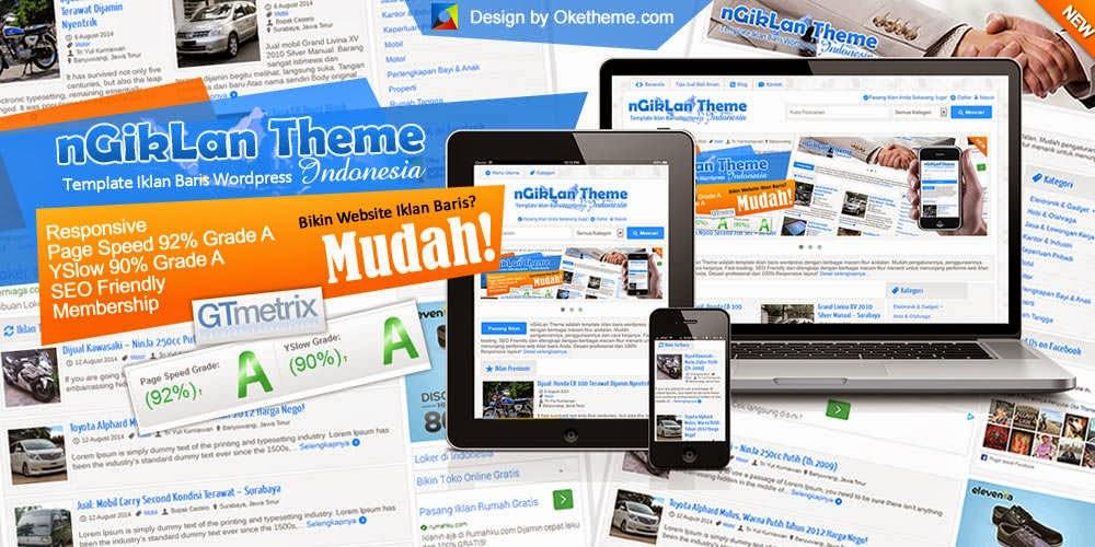 Download Gratis Ngiklan Theme Template Iklan Baris Wordpress