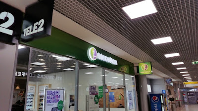 Tienda megafon aeropuerto Moscu