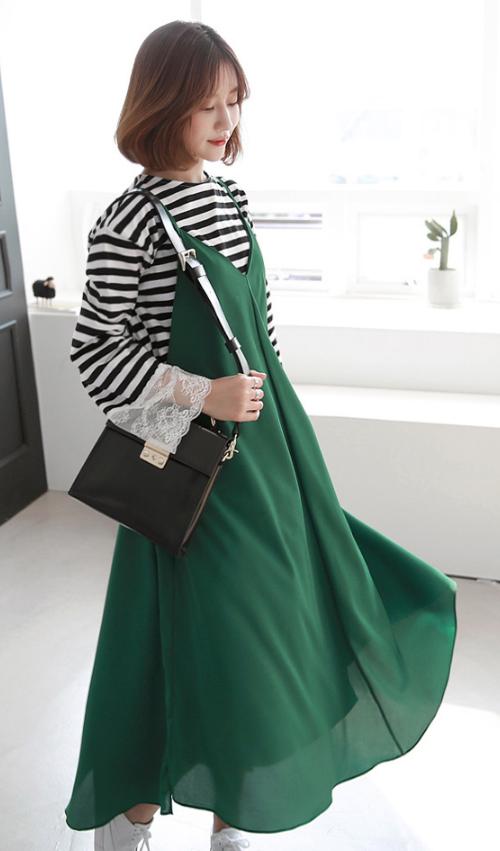 Flared Sleeveless Dress