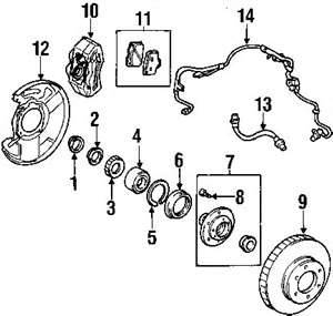 2003 Audi S8 Rear Brake Components