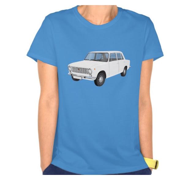 Fiat 124 bianco maglietta italia