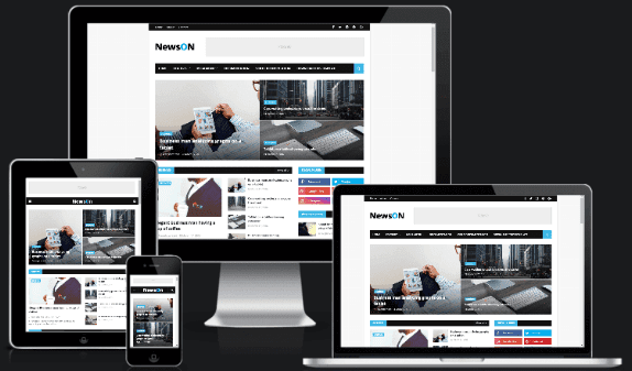 NewsOn Magazine Blogger Template  for free