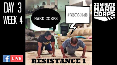 Day 3 Week Four 22 Minute Hard Corps, 22 minute Hard Corps Resistance 1 Workout, Beachbody Performance Stack, 22 Minute Hard Corps Challenge, Beachbody Changed my Life