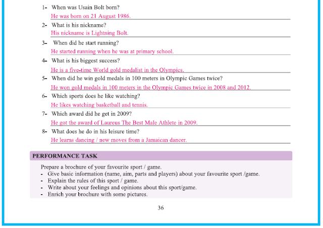 9. Sınıf Yıldırım Yayınları İngilizce A1.2 Çalışma Kitabı 36. Sayfa Cevapları Theme 4 Sports