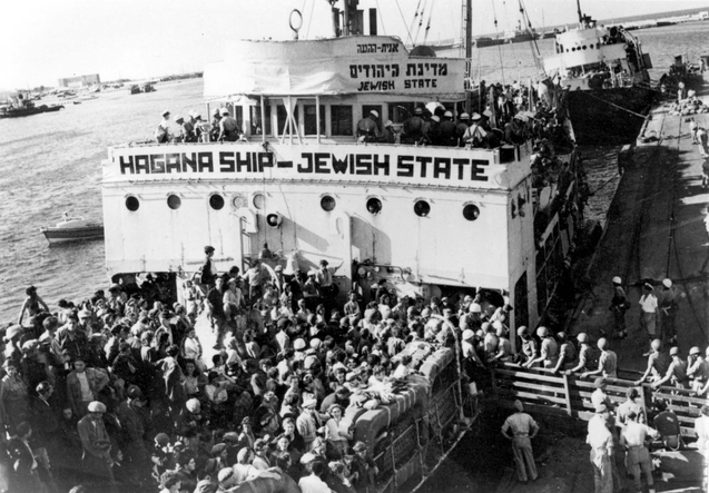 Haifa, Mandatory Palestine, The Jewish State, a Haganah ship captured by the British
