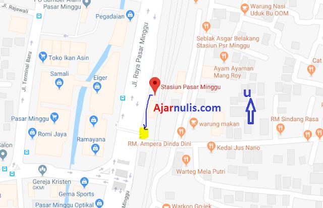 Titik Jemput Ojek Online Gojek-Grab di Stasiun Pasar Minggu