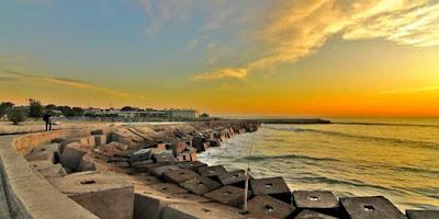 sunset pantai panjang bengkulu