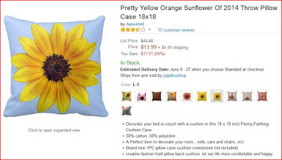 Pretty Yellow Orange Sunflower Of 2014 Throw Pillow Case 18x18