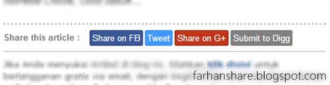 Cara Membuat Social Share Button Warna Warni