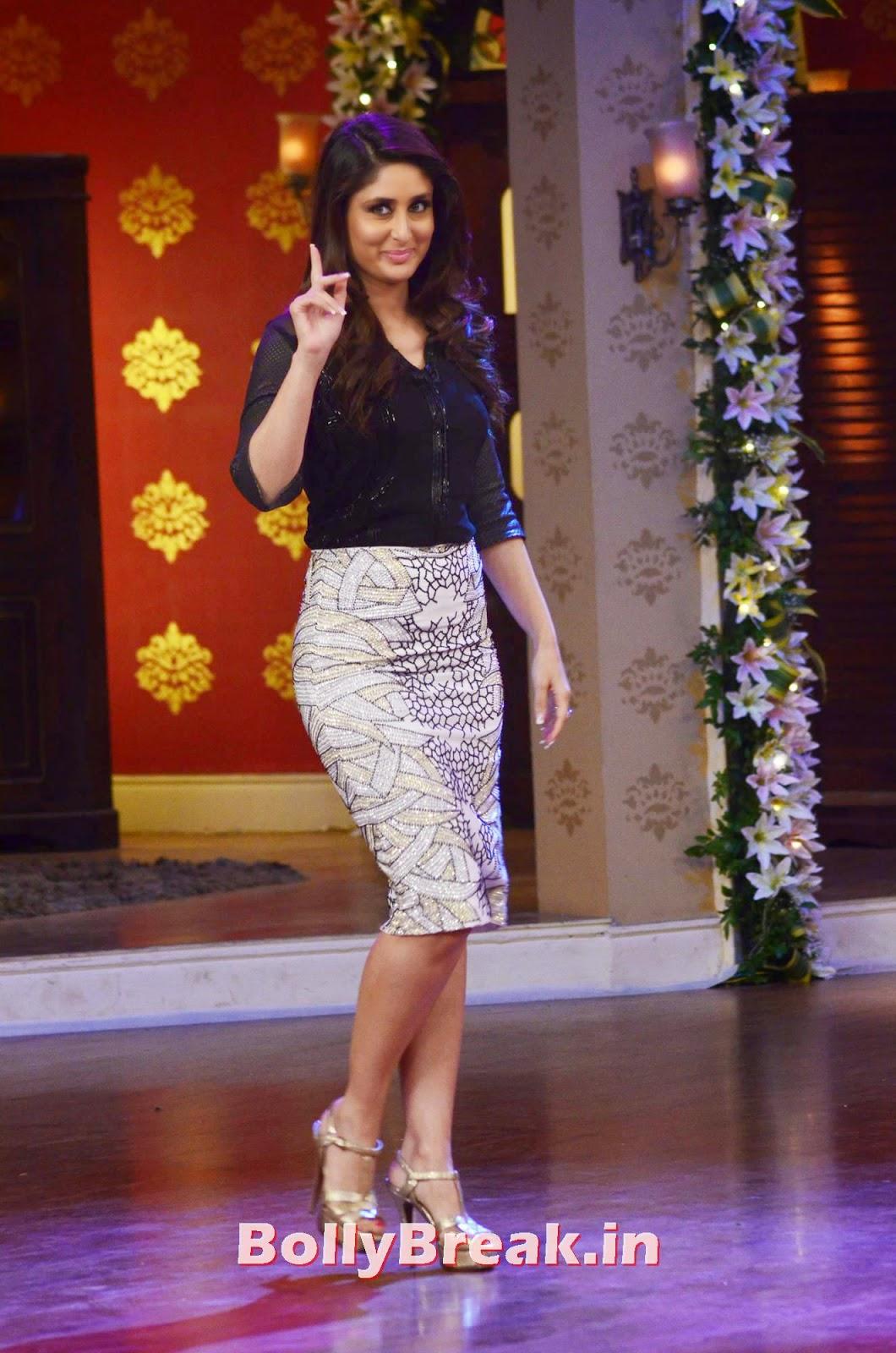 , Kareena Kapoor HD Pics in Silver skirt, Black Top on CNWK