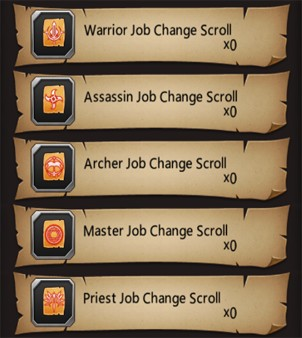 Bloodline Job Change Scrolls