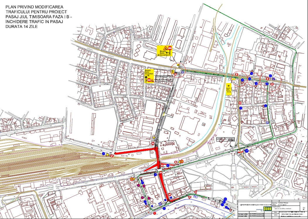 Se inchide traficul rutier pe un tronson din Circumvalaţiunii in perioada 31 mai - 10 iunie