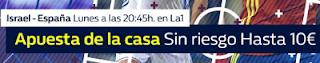 william hill promocion 10 euros Israel vs España 9 octubre