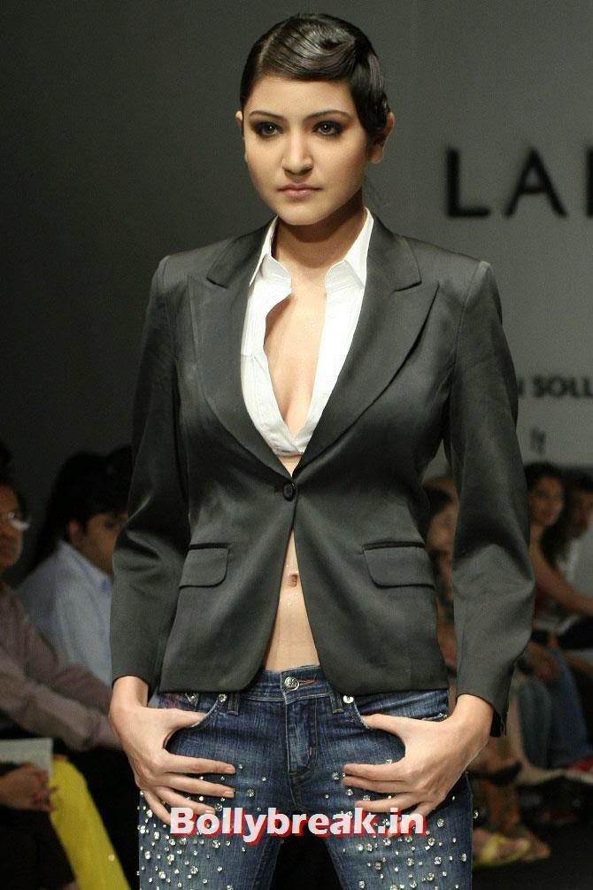 Anushka Sharma at Lakme Fashion Week 2007, 15 Super Models who are Rocking Bollywood