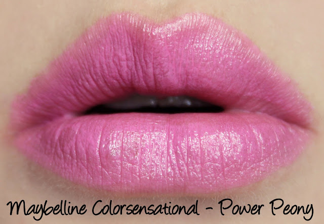 Maybelline Color Sensational Rebel Bloom - Power Peony Lipstick Swatches & Review