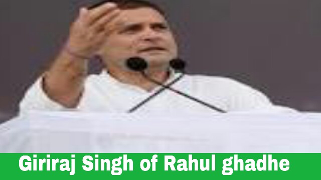 The reply given by Giriraj Singh of Rahul's allegation is,
