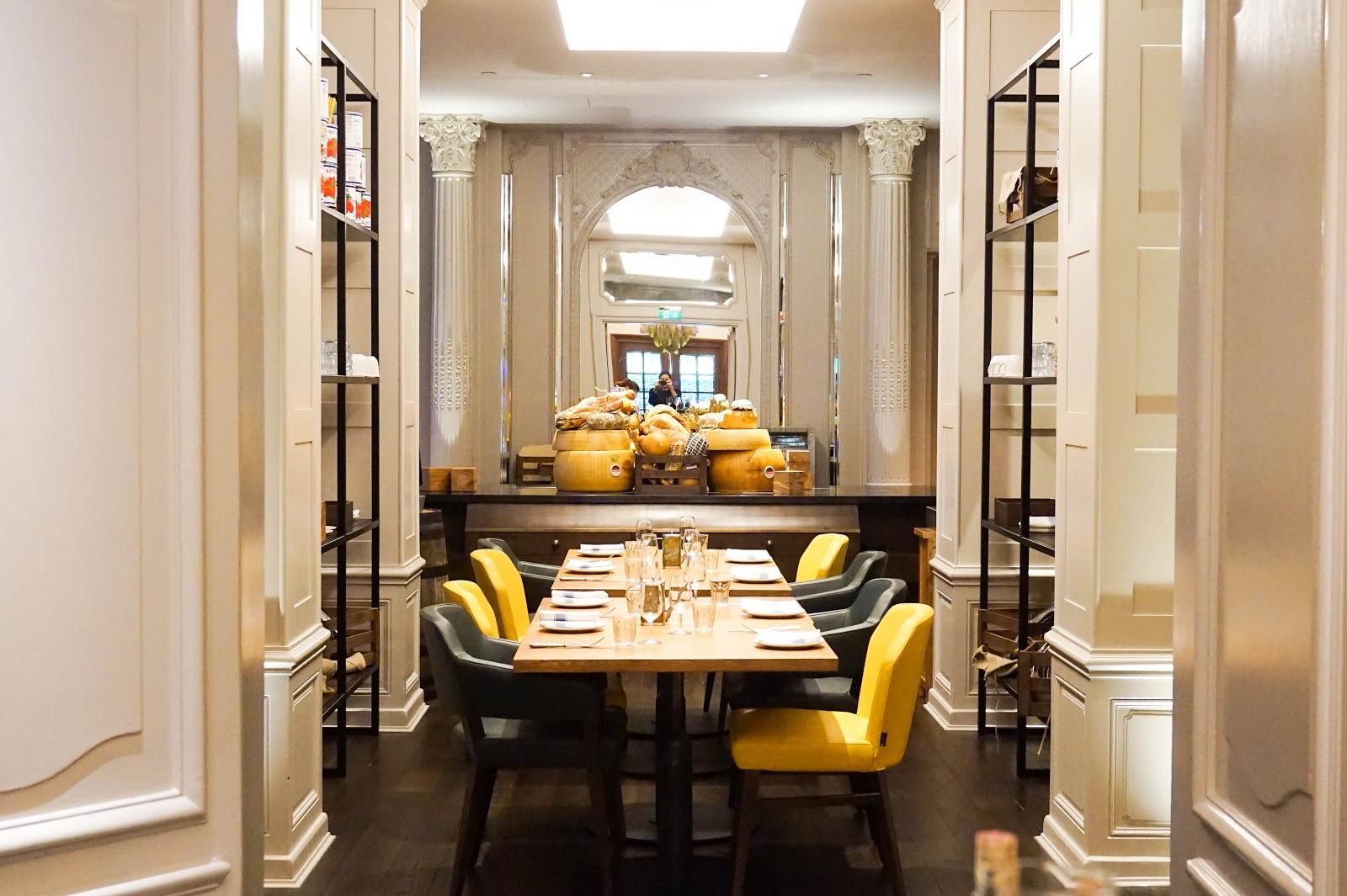Mercante Restaurant in Sheraton Grand London Park Lane