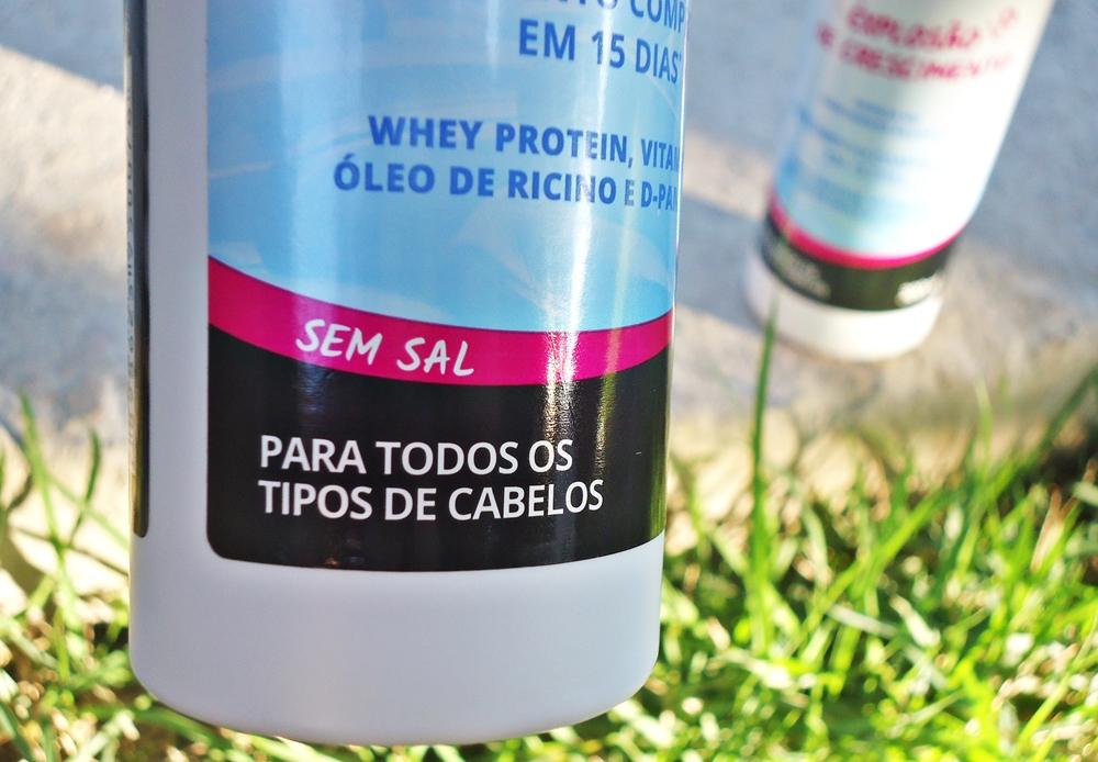 S.O.S Bomba de vitaminas Salon Line resultado antes e depois