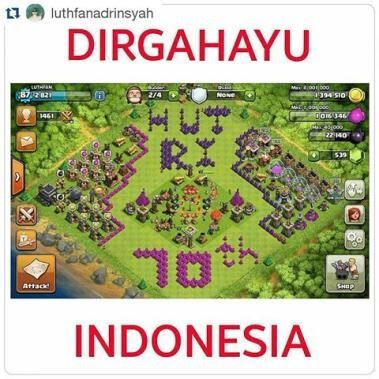 clash of clans kemerdekaan indonesia