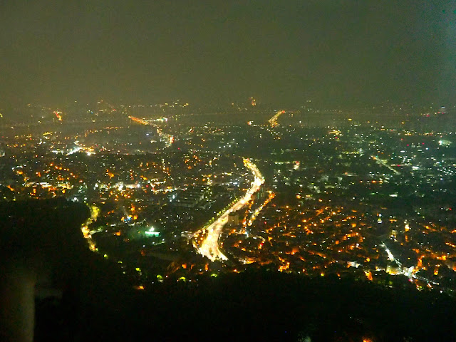 View from N Seoul Tower at night of Seoul, South Korea