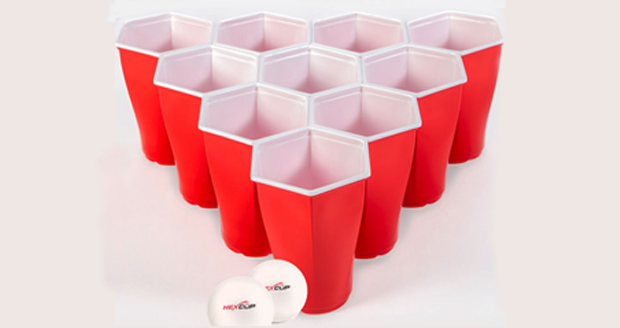 Hexagonal Beer Pong Cups