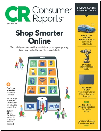 Back Again Consumer Reports Magazine For One Year 18 99 13 Issues